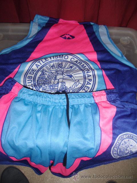 EQUIPACION DE ATLETISMO CARMONA PAEZ TALLA XL USADO (Coleccionismo Deportivo - Ropa y Complementos - Camisetas otros Deportes)