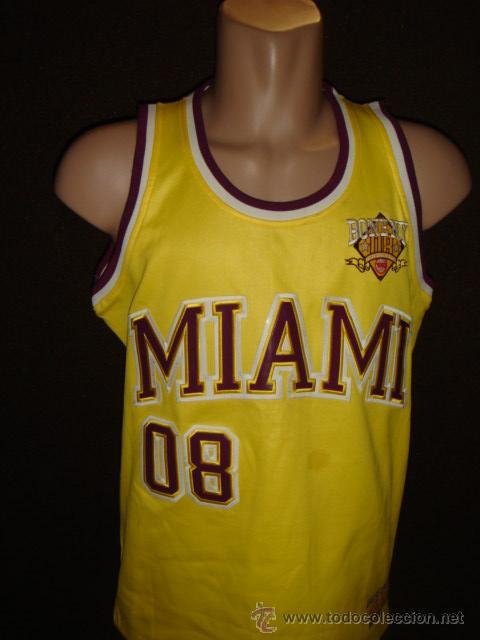 f55e10fe2 CAMISETA NBA BASKET ORIGINAL BONE .NY MIAMI BONE TALLA L (Coleccionismo  Deportivo - Ropa