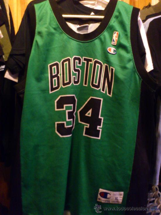 a9367bbbe CAMISETA BALONCESTO BASKET BOSTON CELTICS 34 PIERCE TALLA XL CHAMPION  (Coleccionismo Deportivo - Ropa y