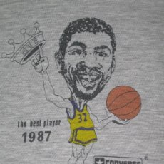 Coleccionismo deportivo: MAGIC JOHNSON ** LAKERS ** 1987 MVP ** CONVERSE ** ORIGINAL ** CAMISETA L BASKET BALONCESTO. Lote 32794956