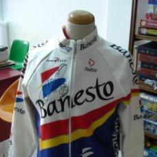Coleccionismo deportivo: ANTIGUO MAILLOT MANGA LARGA EQUIPO BANESTO FIRMADA POR ABRAHAN OLANO Y PERICO DELGADO. TDKDEP12. Lote 33060070