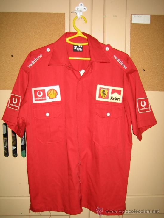 Coleccionismo deportivo: Camisa de Ferrari, Michael Schumacher.De hombro a hombro 58 cm - Foto 2 - 38615735