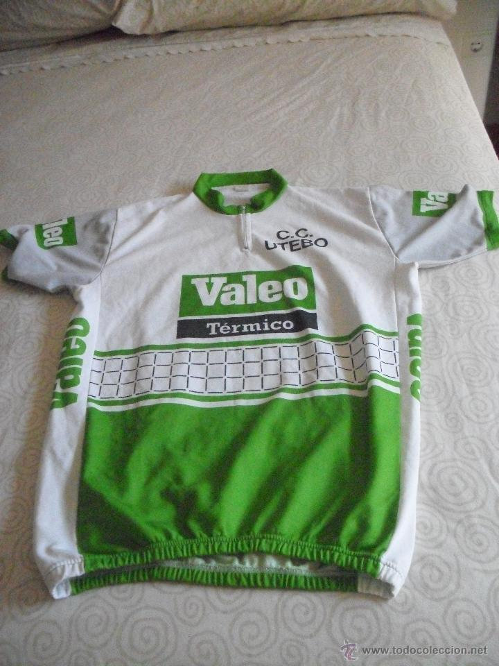 MAILLOT CICLISTA VALEO C.C UTEBO, MANGA CORTA (Coleccionismo Deportivo - Ropa y Complementos - Camisetas otros Deportes)