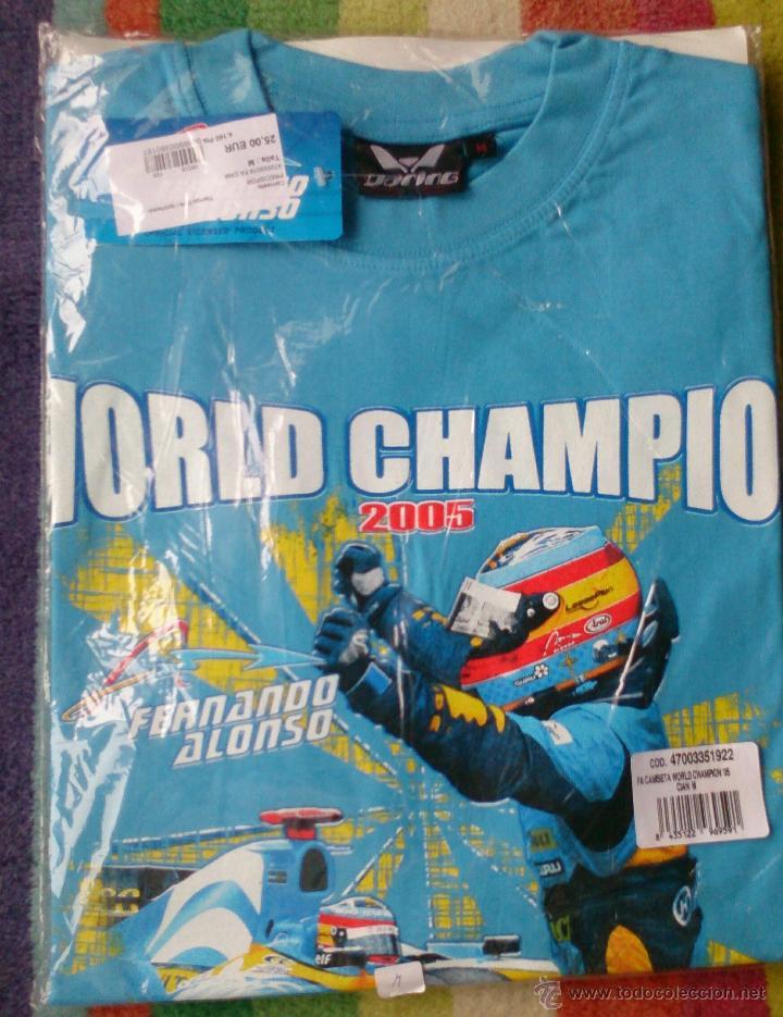 CAMISETA FERNANDO ALONSO WORLD CHAMPION 2005 NO USADA (Coleccionismo Deportivo - Ropa y Complementos - Camisetas otros Deportes)