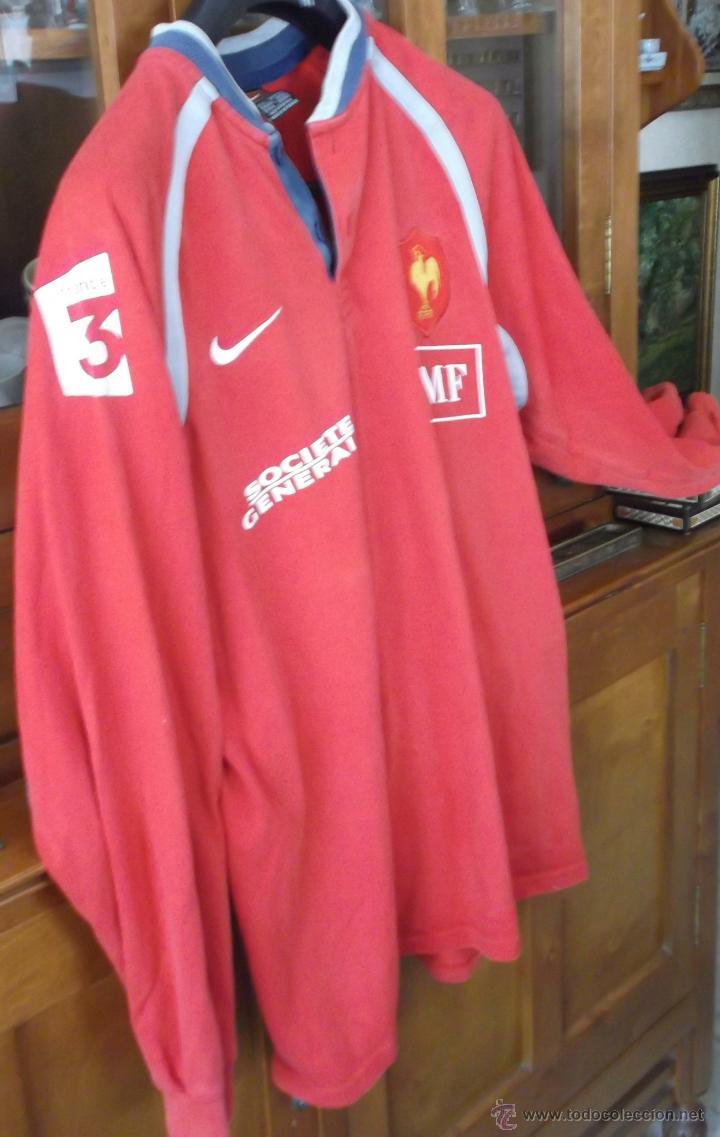 Coleccionismo deportivo: camiseta manga larga original de la seleccion francesa de rugby talla grande - Foto 2 - 45672380