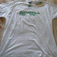 Coleccionismo deportivo: CAMISETA DE BALONCESTO. UNICAJA MÁLAGA. TEMPORADA 2005 2006. FINAL ACB VS TAU VITORIA. XXL. Lote 47062399