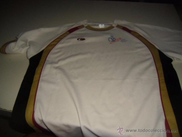 CAMISETA MANGA CORTA BLANCA CSD CONSEJO SUPERIOR DE DEPORTES TALLA M (Coleccionismo Deportivo - Ropa y Complementos - Camisetas otros Deportes)