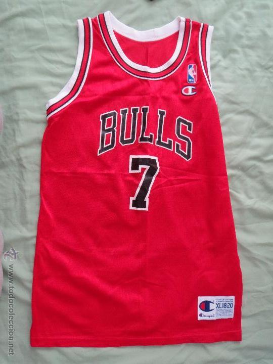 CAMISETA CHICAGO BULLS KUKOC NUMERO 7 CHAMPION XL 18-20 MADE IN USA (Coleccionismo Deportivo - Ropa y Complementos - Camisetas otros Deportes)
