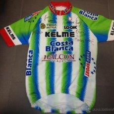Coleccionismo deportivo: MAILLOT CICLISMO EQUIPO KELME AÑO 1997-2000, CON FIRMAS DE JAVI OTXOA,ESCARTIN,SANTIAGO BOTERO,HEROS. Lote 54333815