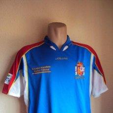 Coleccionismo deportivo: (F-1590)CAMISETA SELECCION ESPAÑOLA HOCKEY PATINES,MARCA JOLUVI,Nº3,TALLA L,MATCH WORN. Lote 56913467