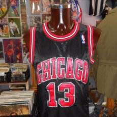 Coleccionismo deportivo: CAMISETA DE LOS CHICAGO BULLS NEGRA. NBA. DORSAL 13 ADIDAS. NOAH. TALLA 44. TDKDEP8. Lote 57829554