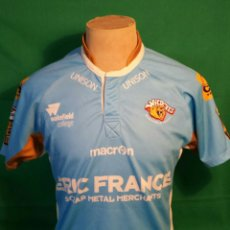 Coleccionismo deportivo: CAMISETA MACROM RUGBY WAKEFIELD WILDCATS. Lote 71048259