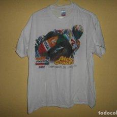 Coleccionismo deportivo: CAMISETA BLANCA DE MOTO ALEX CRIVILLE CAMPEONATO DEL MUNDO 1998. Lote 172176487