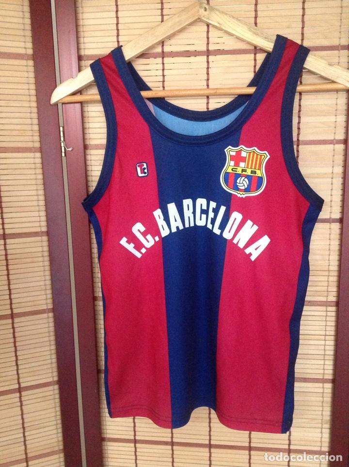 ANTIGUA CAMISETA DEPORTIVA DE BALONCESTO BARCELONA (Coleccionismo Deportivo - Ropa y Complementos - Camisetas otros Deportes)