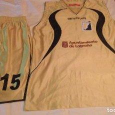 Coleccionismo deportivo: CAMISETA BASKET FEMENINO GAUNAS PROMETE CON PANTALONETA INCLUIDA N°15. Lote 78072645