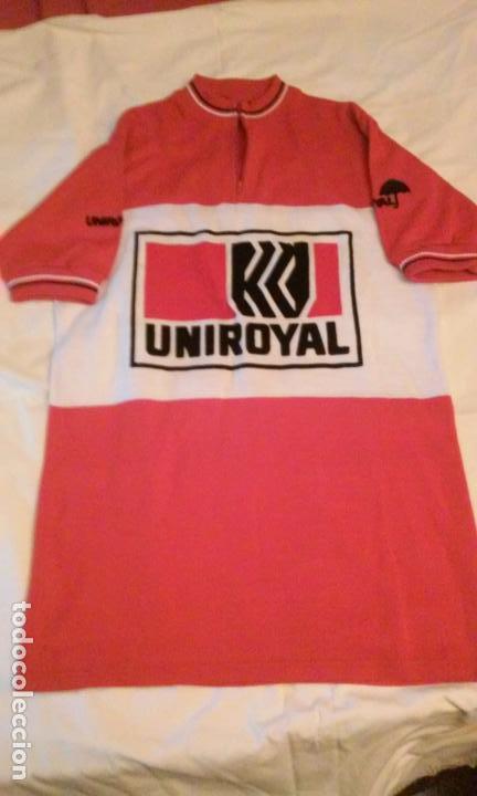MAILLOT CICLISMO UNIROYAL ANTIGUA (MADE IN BELGIUM-BÉLGICA). UNICA EN INTERNET (Coleccionismo Deportivo - Ropa y Complementos - Camisetas otros Deportes)