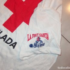 Coleccionismo deportivo: CAMISETA LA FONT SANTA,CRUZ ROJA ESPAÑOLA TEULADA(VALENCIA),AÑOS 80,A ESTRENAR. Lote 80112005