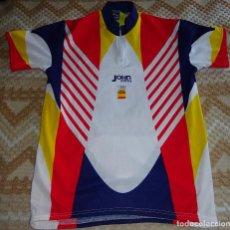 Coleccionismo deportivo: CAMISETA MAILLOT DE CICLISMO. EQUIPO SELECCIÓN DE ESPAÑA JUEGOS OLÍMPICOS ATLANTA 96 1996. 140 GR. Lote 80395701