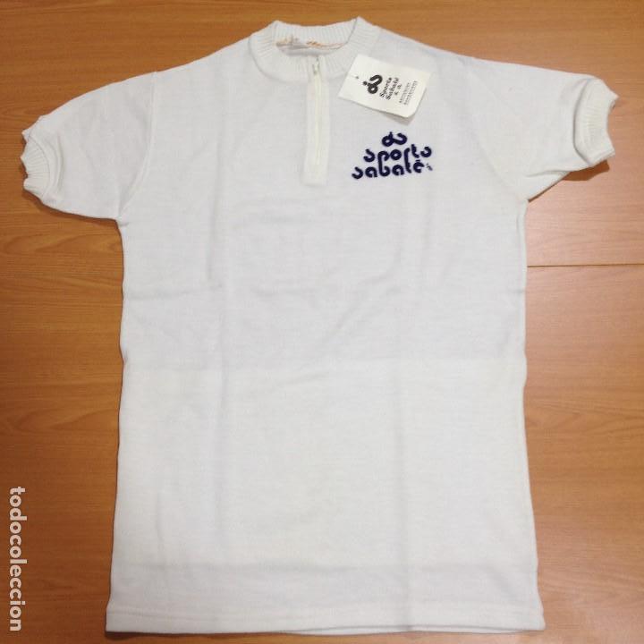 CICLISMO MAILLOT BLANCO SIN PUBLICIDAD- SPORTS SABATE - TALLA 5 - ANTIGUO VINTAGE CICLISTA BICICLETA (Coleccionismo Deportivo - Ropa y Complementos - Camisetas otros Deportes)