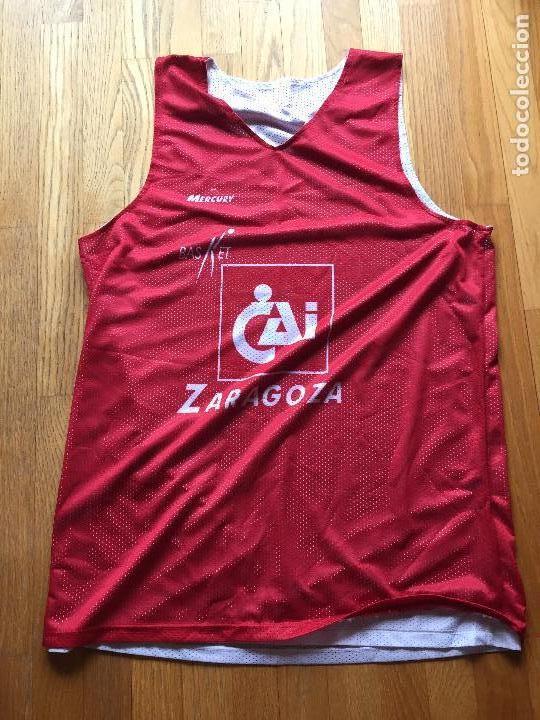CAMISETA BALONCESTO CAI ZARAGOZA, DOBLE CARA (Coleccionismo Deportivo - Ropa y Complementos - Camisetas otros Deportes)