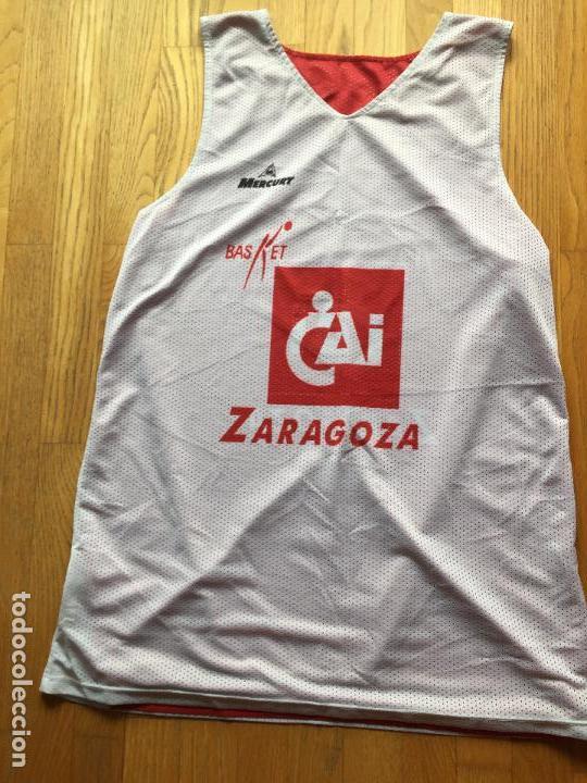Coleccionismo deportivo: CAMISETA BALONCESTO CAI ZARAGOZA, DOBLE CARA - Foto 9 - 97473091