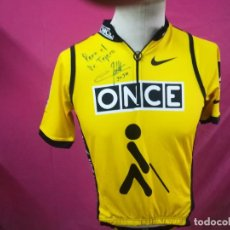 Coleccionismo deportivo: CAMISETA MAILLOT CICLISTA ONCE NIKE FIRMADA . Lote 100575191