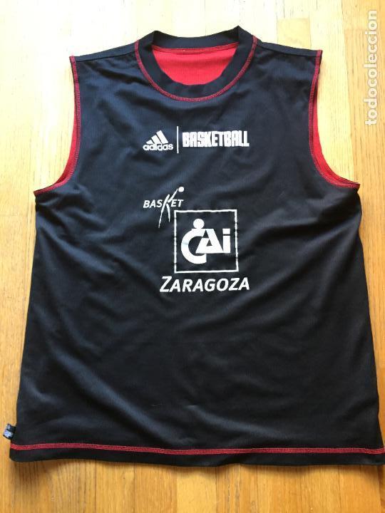 CAMISETA BALONCESTO CAI ZARAGOZA, DOBLE CARA , RARA (Coleccionismo Deportivo - Ropa y Complementos - Camisetas otros Deportes)