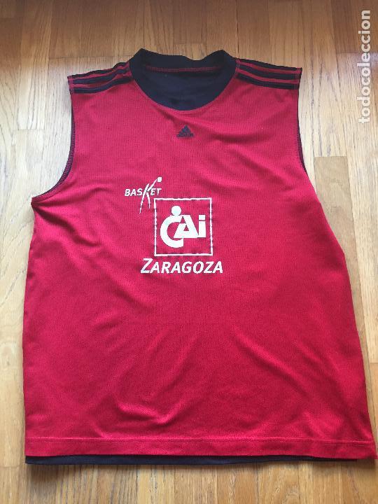 Coleccionismo deportivo: CAMISETA BALONCESTO CAI ZARAGOZA, DOBLE CARA , RARA - Foto 6 - 101417455