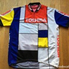 Coleccionismo deportivo: MAILLOT CICLISMO VINTAGE TOSHIBA. Lote 103586851