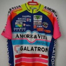 Coleccionismo deportivo: MAILLOT DE CICLISMO AMORE & VITA. TEMPORADA 93: CALCATERRA, MASSI, BRUNO RISI.. Lote 103981351