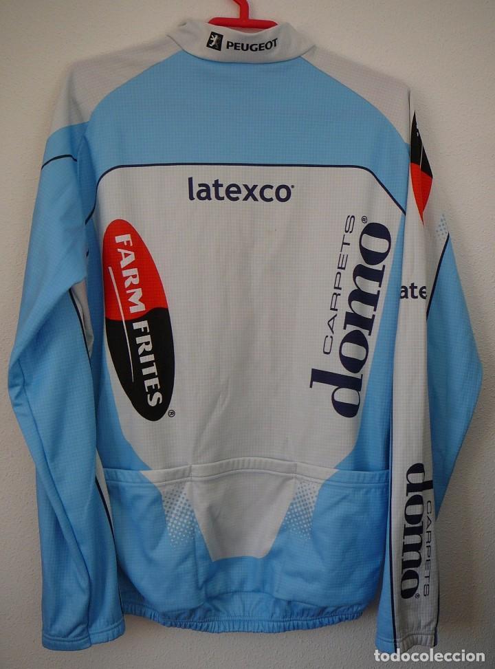 Coleccionismo deportivo: Maillot de ciclismo Domo Farm Frites. Manga larga. Temporada 2002: Museeuw, Vandenbroucke, Virenque - Foto 2 - 104165211