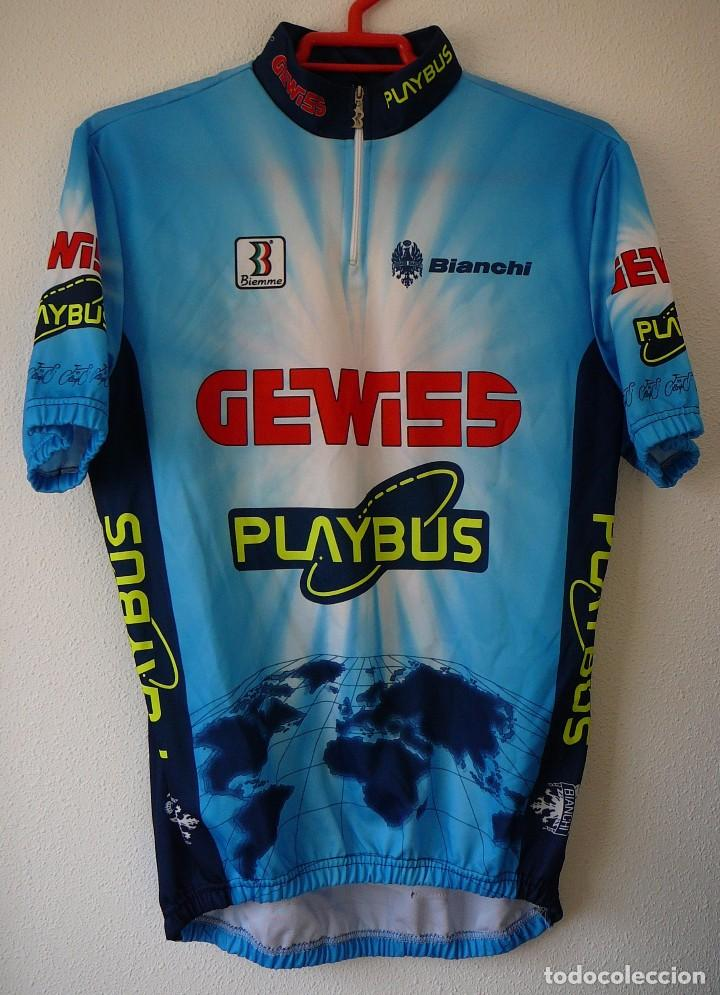 MAILLOT DE CICLISMO GEWISS. TEMPORADA 96: BERZIN, GOTTI, MINALI (Coleccionismo Deportivo - Ropa y Complementos - Camisetas otros Deportes)