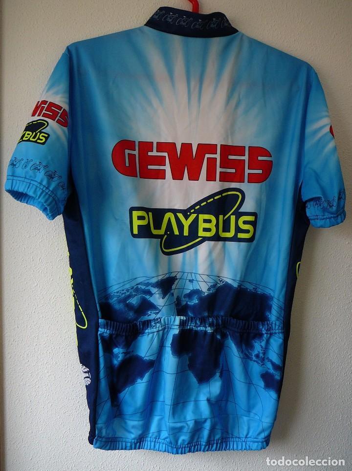 Coleccionismo deportivo: Maillot de ciclismo Gewiss. Temporada 96: Berzin, Gotti, Minali - Foto 2 - 104646923