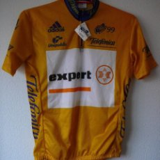 Coleccionismo deportivo: MAILLOT DE CICLISMO JERSEY ORO VUELTA A ESPAÑA 99.. Lote 104737675