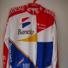 Coleccionismo deportivo: MAILLOT DE CICLISMO BANESTO MANGA LARGA. TEMPORADA 94: INDURAIN, PERICO, BERNARD. Lote 104914827