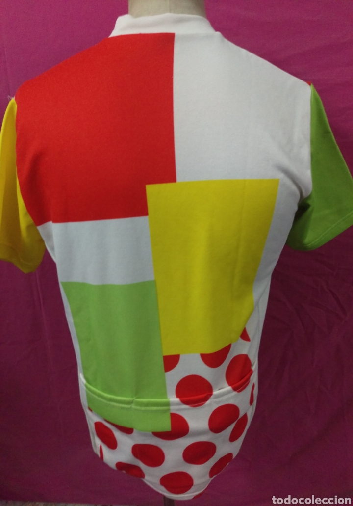 Coleccionismo deportivo: Camiseta maillot ciclista original vintage TOSHIBA LE PARISIEN TOUR DE FRANCE talla L - Foto 4 - 113953959