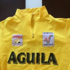Coleccionismo deportivo: ANTIGUO MAILLOT AMARILLO VUELTA A ESPAÑA 95 CERVEZA AGUILA. Lote 117912699