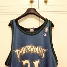 Coleccionismo deportivo: CAMISETA CHAMPION NBA KEVIN GARNETT MINNESOTA TIMBERWOLVES. Lote 118708139