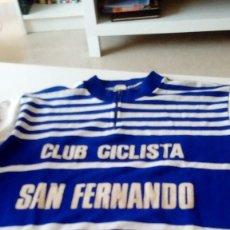 Coleccionismo deportivo: C-MI240PV MAILLOT ANTIGUO CLUB CICLISTA DE SAN FERNANDO V VER FOTOS . Lote 121921031