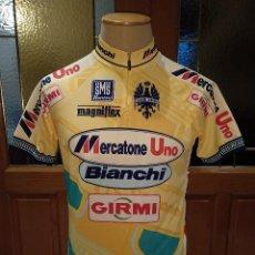 Coleccionismo deportivo: MAILLOT MERCATONE UNO BIANCHI GIRMI. 1998. ORIGINALSANTINI. TALLA XL. BUEN ESTADO.. Lote 124226847