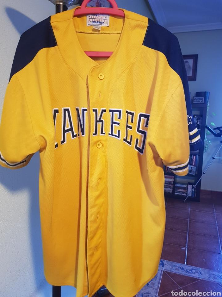 26494a4f7cf5e CAMISETA OFICIAL DE LOS NEW YORK YANKEES. AÑOS 90. MLB. STARTER. BEÍSBOL