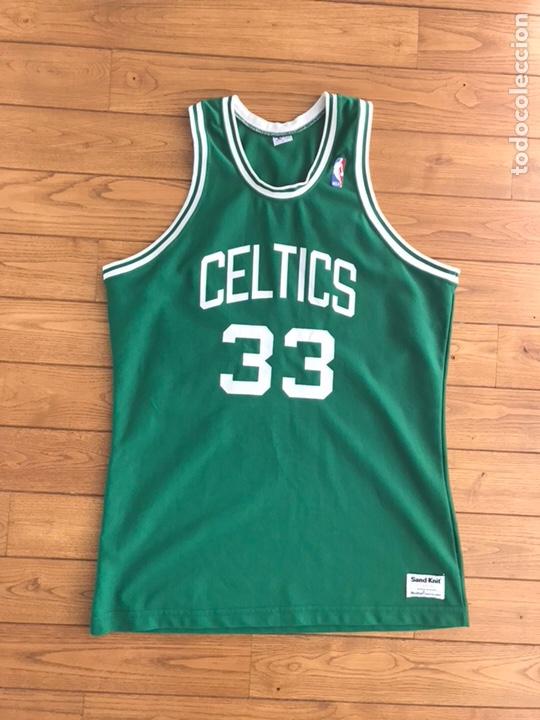 more photos ef607 43818 Camiseta de Larry Bird Boston Celtics - Retro años 80 Sand Knit McGregor!!
