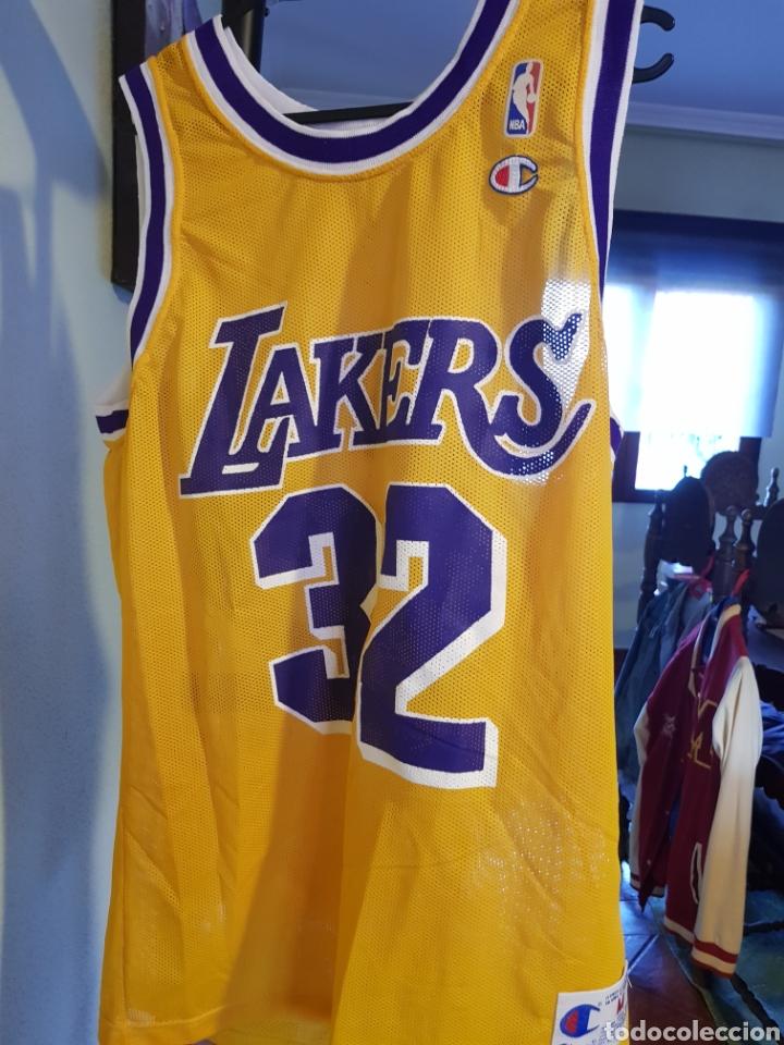new arrivals 3f82f bc1c9 Camiseta original Los Angeles Lakers. Magic Johnson. Champion talla M. NBA.  Baloncesto