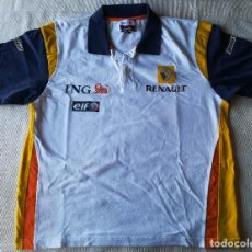 Coleccionismo deportivo: POLO FORMULA UNO RENAULT F1 TEAM , ING . FERNANDO ALONSO . BRIDGESTONE , ELF . Lote 128776071