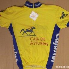 Coleccionismo deportivo: MAILLOT CICLISTA CICLISMO ORIGINAL MAZCATU CAJASTUR CAJA DE ASTURIAS CON ETIQUETA DE FABRICA. Lote 130850584