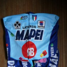Coleccionismo deportivo: CHALECO (CORTAVIENTOS) Y CULOTTE MAPEI GB 95. MAILLOT. JERSEY CYCLING ROMINGER, OLANO, MUSEEUW. Lote 132712982