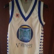 Coleccionismo deportivo: MELILLA MEYBA MATCH WORN BASKET BASQUET RCD ESPANYOL L CAMISETA. Lote 134007570