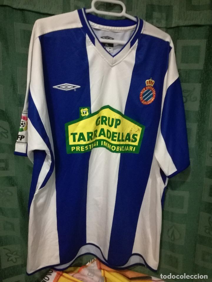 66a7536774085 RCD ESPANYOL XL CAMISETA FUTBOL FOOTBALL SHIRT FUSSBALL TRIKOT  (Coleccionismo Deportivo - Ropa y Complementos