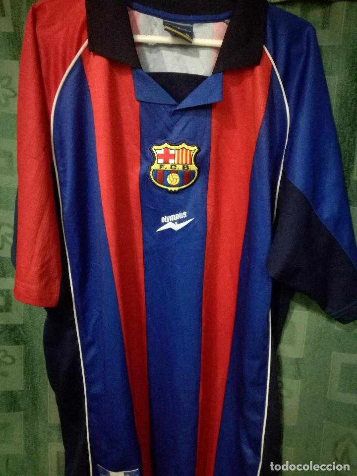 FC BARCELONA VERY RARE OLYMPUS XL CAMISETA FUTBOL FOOTBALL SHIRT FUSSBALL  TRIKOT (Coleccionismo Deportivo - 9406aabb010