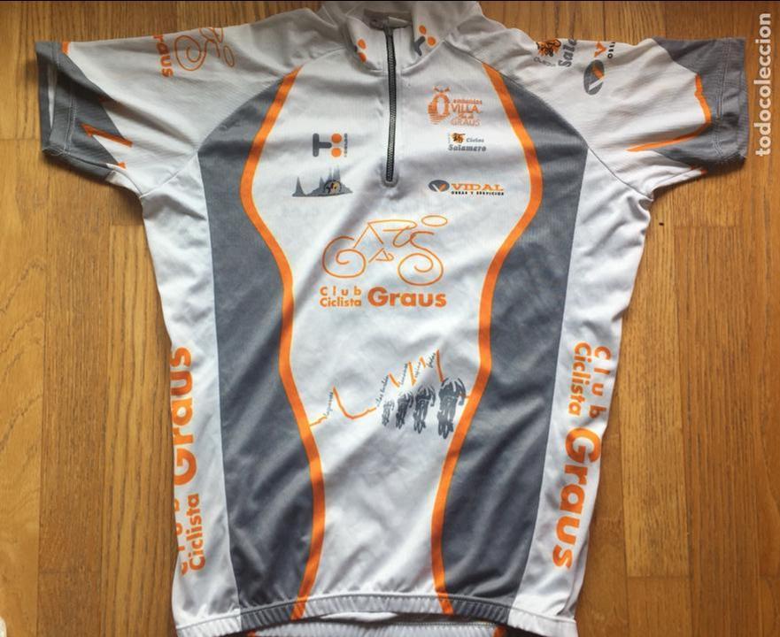 MAILLOT CICLISTA VINTAGE CLUB CICLISTA GRAUS (Coleccionismo Deportivo - Ropa y Complementos - Camisetas otros Deportes)